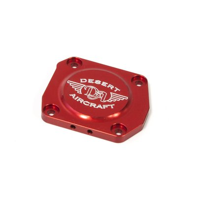 Carburetor Cover DA-120, red anodized