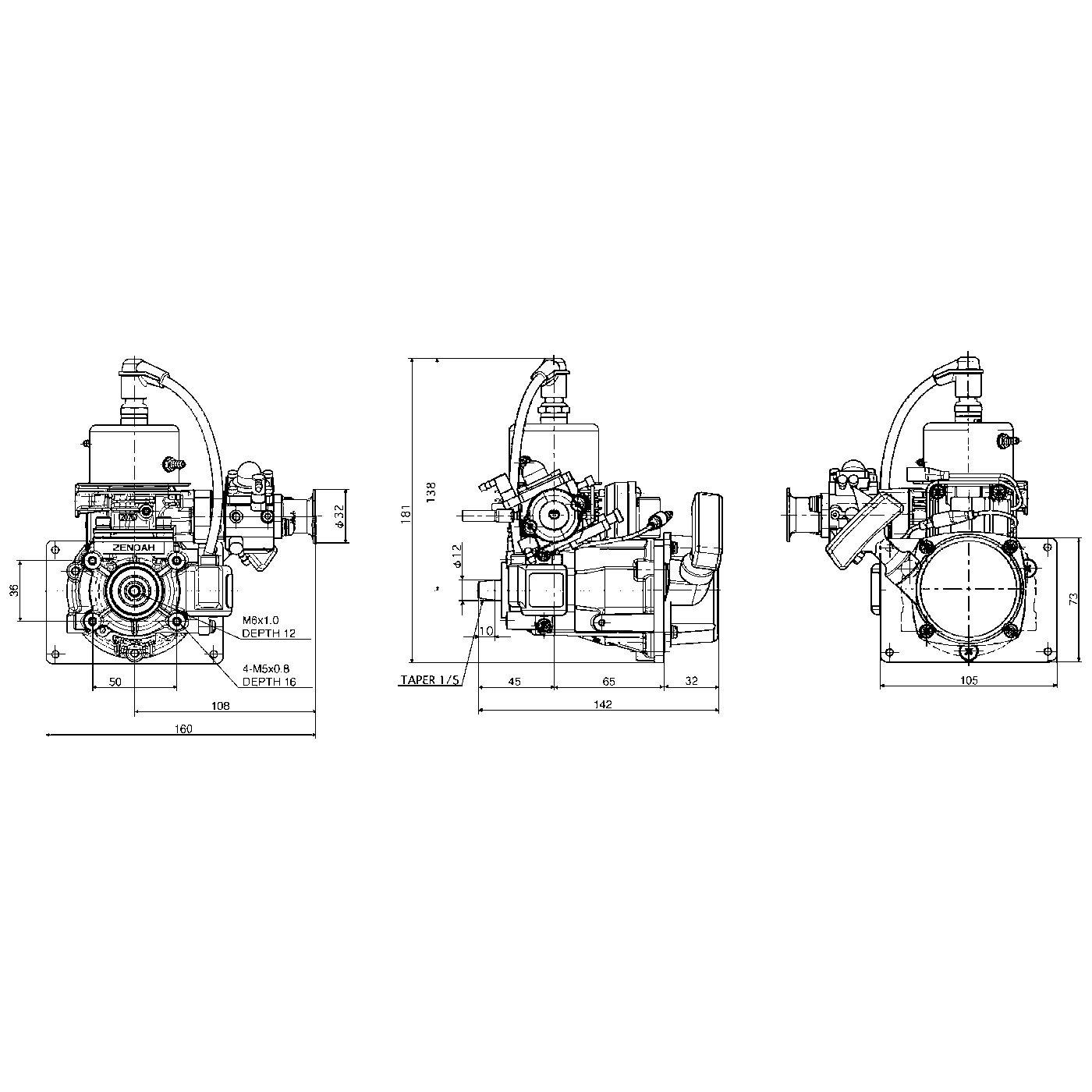 titan zg 26 scm  marine engine 26 cc  299 00